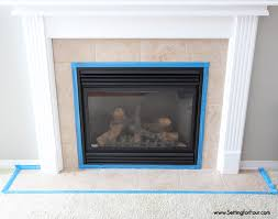 how to tile a fireplace inspiration how to paint tile easy fireplace paint makeover setting for
