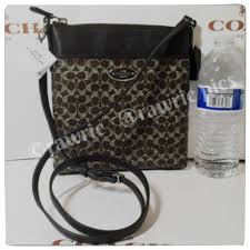 Coach New Signature Monogram C Logo Classic Small Canvas Leather Adjustable  File Swing Pack Messenger Shoulder ...