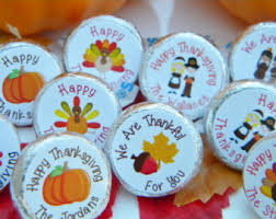 Thansgiving Hershey Kiss Stickers - Thanksgiving Decor - Personalized Thanksgiving  Favors - Hershey Kiss Stickers -