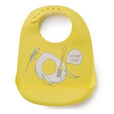 <b>Нагрудник</b> силиконовый <b>Happy Baby</b> BIB POCKET, YELLOW, 16006