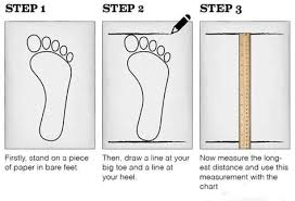 How To Measure Your Feet Shoe Size Chart Size Chart
