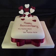 Couple Name Anniversary Cake Picture Write Name On Image