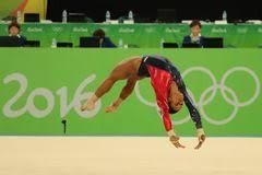 Womens Gymnastics Floor Exercise Stock Illustration Illustration