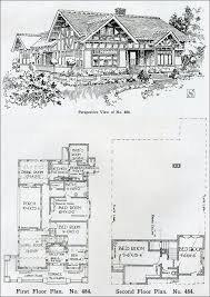 1910 two story tudor revival house plan henry wilson the