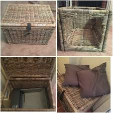 I have an automatic litter box that I needed to camouflage in my small  apartment. All I needed was a storage trunk from Ikea ...