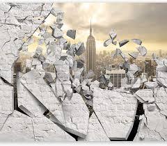 Murando Fenster Nach New York 350x256 Cm Vlies Tapete Moderne