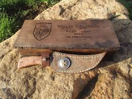 Eagle Party Decorations Hand Crafted Eagle Scout Commemoration Knife By Mark Normans