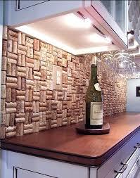 easy diy backsplash 8 a clever way to use those corks easy install kitchen tile backsplash