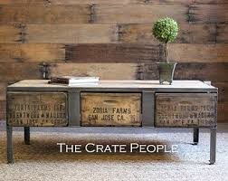 Industrial furniture vintage Cabinet Zoria Crate Industrial Coffee Table With Metal Plates Custom Made Vintage Crate Furniture 100yr Old Barn Wood Changeyourviewinfo Industrial Furniture Etsy
