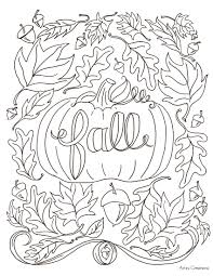 fun fall coloring pages