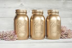 Painted Mason Jars Copper And Gold Painted Mason Jar Decor Ka Styles