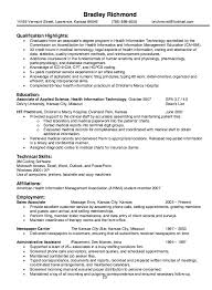 Examples Of College Student Resumes Amazing Health Information Technology Resume Sample Httpresumesdesign