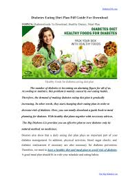 Diabetes Meal Planning Pdf Diabetes Eating Diet Plan Pdf Guide For Download By Hannah