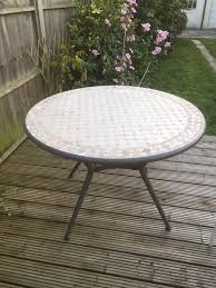 B and q mosaic garden table