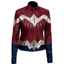 details about new wonder woman 2017 classic iconic costume faux leather jacket