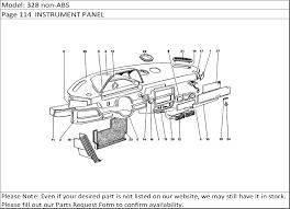 buy ferrari part fuse box knob buy ferrari spares 328 non abs page 114 instrument panel