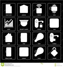 Set Of Locked Smart Mobile Phone Light Home Handle
