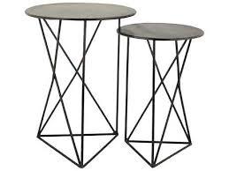black end table set home geometric metal round black end table set black and gold table