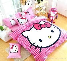 Hello Kitty Bedding Cartoon Children Cute Lovely Pink Set Bed Sheet Duvet Cover  Comforter