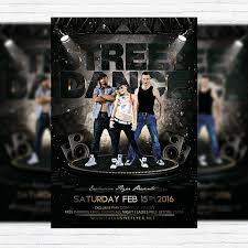 street dance premium flyer template facebook cover