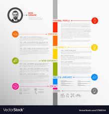 Minimalist Resume Timeline minimalist cv resume template Royalty Free Vector 43