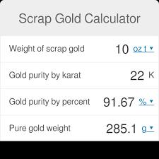 Scrap Gold Calculator Omni