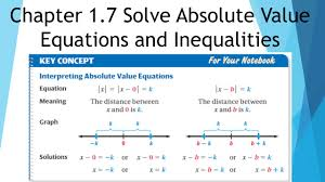 chapter 1 7 solve absolute value equations and inequalities 3 4