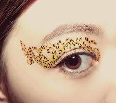 temporary tattoo decal eye makeup eyeshadow leopard print holiday party masquerade cosplay makeup costume