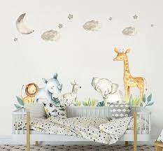 safari nursery decor wall stickers kids