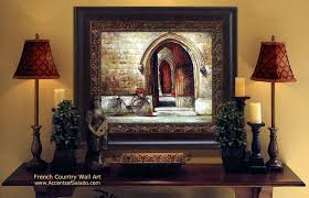 french country wall decor art designs framed artwork home decorate kitchen