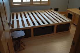 apartment extraordinary diy queen bed with storage 13 how to build platform inspirations plans for frame