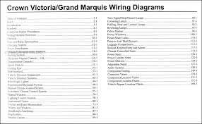 2009 crown victoria & grand marquis original wiring diagram manual 1988 Mercury Grand Marquis Wiring Diagram grand marquis original wiring diagram manual table of contents 1989 mercury grand marquis wiring diagram