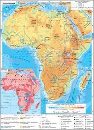 Страны Африки Физическая карта Африки