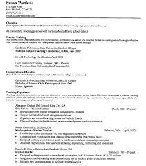 Teaching Resumes Esl Teacher Resume Sample Skinalluremedspa Com