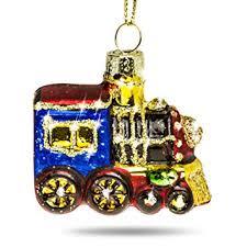 Sikora Bs395 Glas Figur Christbaumschmuck Weihnachtsbaum Anhänger Lokomotive Bunt 45cm