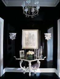 traditional hall by branca inc lacquered walls interesting for hall bath dining room find this pin and more on black white furniture