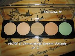 mufe camouflage cream palette 5 make up for ever 5 camouflage cream palette