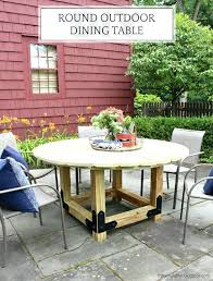diy round table for smaller patios round tables give plenty of eating space without taking up diy round table