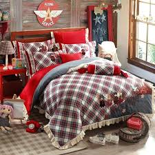 harry potter plaid kids printed embroidered style cotton bedding sets queen king size bedspread harry potter