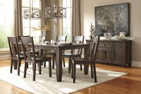signature design by ashley trudell piece round dining table set kitchen for signature wood seat