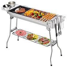 Rectangular <b>Barbecue</b> Wood <b>Dakota</b> Safety 47X28X60H cms Folding
