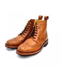 kingkomfort london handmade goodyearwelted 100 real leather shoes eyelet boot kk106 tan for mens