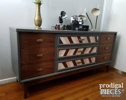 diy modern vintage furniture makeover. vintage mid century modern dresser with chic look by prodigal pieces wwwprodigalpieces diy furniture makeover