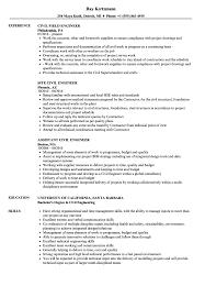 Engineer, Civil Engineer Resume Samples | Velvet Jobs