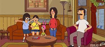family watching tv gif. wired binge-watching guide: bob\u0027s burgers family watching tv gif