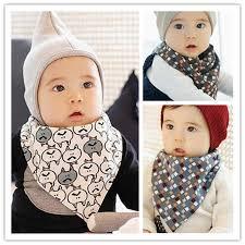 2 Pcs Cotton Baby <b>Bandana Bibs</b> Double Layers Saliva Scarf ...