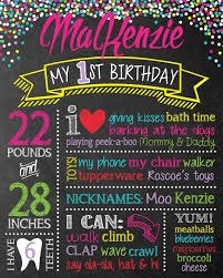 diy first birthday chalkboard poster kinderstreetboutique 1st