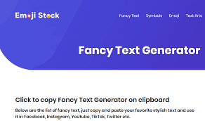 get fancy text with the cool text generator