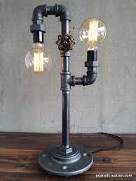 rustic industrial lighting. modern table lamp industrial lighting iron piping rustic light e