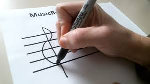 How To Draw A Treble Clef Sign Youtube
